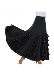 CISMARK Elegant Milk Silk Ballroom Waltz Dancing Long Swing Skirt One Size - O meu olhar - $36.90  ~ 31.69€