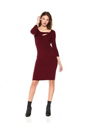 Cable Stitch Women's 3/4 Sleeve Cutout Sweater Dress - My look - $49.90