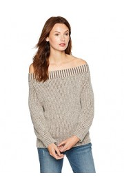 Cable Stitch Women's Marled Off-The-Shoulder Sweater - My look - $29.90