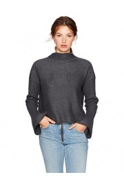 Cable Stitch Women's Mock Neck Cropped Sweater - My look - $29.90