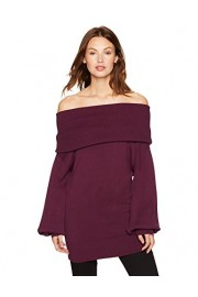 Cable Stitch Women's Off-The-Shoulder Tunic Sweater - My look - $39.90
