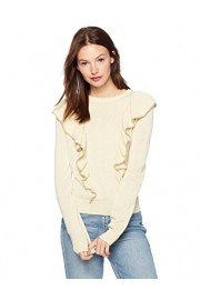 Cable Stitch Women's Ruffle Front Pullover Sweater - My look - $49.50