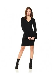 Cable Stitch Women's Ruffled Cuffs V-Neck Dress - My look - $69.50