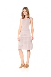Cable Stitch Women's Scallop Detail Mixed Stitch Dress - My look - $74.50