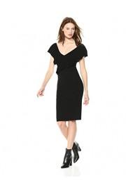 Cable Stitch Women's Sleeveless V-Neck Ruffle Dress - My look - $69.50