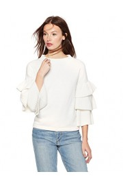 Cable Stitch Women's Tiered Ruffle-Sleeve Sweater - My look - $49.50