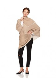 Cable Stitch Women's Turtleneck Asymmetrical Poncho - My look - $54.50