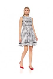 Calvin Klein Women's Sleeveless Cotton Eyelet Fit and Flare Dress - Mi look - $56.32  ~ 48.37€