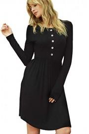 Chifave Women's Casual Long Sleeve Loose Swing T-Shirt Midi Dress - O meu olhar - $14.99  ~ 12.87€