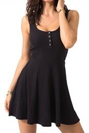 Chifave Women's Casual Sleeveless High Waist Slim Fit Flare Skater Mini Tank Dress - O meu olhar - $13.99  ~ 12.02€