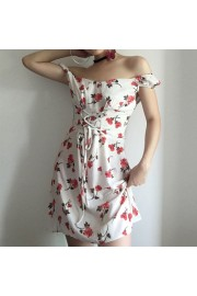Chiffon Waist Printed Sleeveless Dress - My look - $27.99