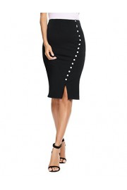 Chigant Women's Skirt High Waist Stretch Bodycon Office Midi Pencil Skirts - Il mio sguardo - $11.99  ~ 10.30€