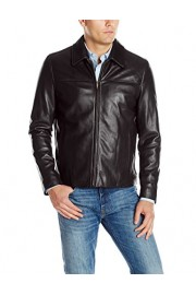 Cole Haan Men's Smooth Leather Collar Jacket - My look - $243.89