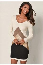 Color block sweater dress (Venus) - My look - $24.99