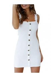 Conmoto Women's Strap Button Down Linen Mini Dress Backless Bodycon Dress - My look - $23.99