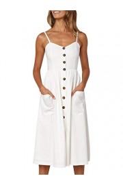 Conmoto Women's Striped Spaghetti Strap Button Down Midi Dress with Pockets - My look - $23.99