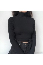 Cross strap backless long sleeve knit t- - My look - $25.99