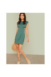 Cut Out Backless Solid Dress - Laufsteg - $21.00  ~ 15.86€