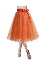 DRESSTELLS Knee Length Tulle Skirt Tutu Skirt Evening Party Gown Prom Formal Skirts - Il mio sguardo - $15.99  ~ 13.73€