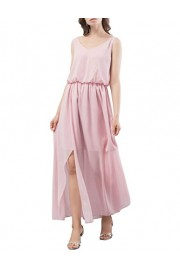 DRESSTELLS Long Bridesmaid Dress V-Neck Chiffon Prom Party Gowns with Side Split - O meu olhar - $25.99  ~ 22.32€