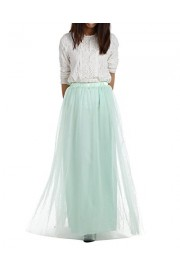 DRESSTELLS Long Tulle Skirt Maxi Chiffon Petticoat Prom Gowns Two Way Formal Skirt - O meu olhar - $89.99  ~ 77.29€