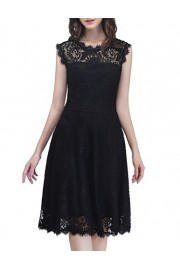 DRESSTELLS Women's Elegant Open Back Lace Cocktail Dress for Special Occasions - Mój wygląd - $69.99  ~ 60.11€