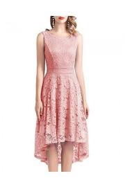 DRESSTELLS Women's Homecoming Vintage Floral Lace Hi-Lo Cocktail Formal Swing Dress - Moj look - $59.99  ~ 381,09kn