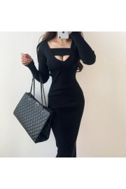 DRESS in vintage pitted knit long base - My look - $35.99  ~ £27.35