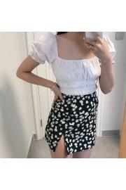 Daisy Print High Waist Skirt - My时装实拍 - $25.99  ~ ¥174.14