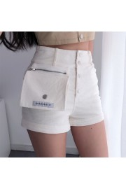 Detachable pocket stretch white corduroy - Mi look - $27.99  ~ 24.04€