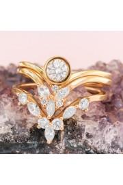 Diamond Bridal Rings Set, Three diamond - My photos -