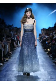 Dior glitter blue ombre dress - Catwalk -