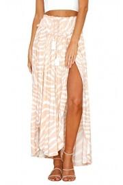 ECOWISH Womens Boho Skirt Floral Dress Split Summer Beach Swing Long Maxi Skirts - O meu olhar - $6.99  ~ 6.00€