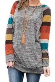 ECOWISH Womens Lightweight Sweater Cotton Knitted Long Sleeve Tunic Sweatshirt Tops - O meu olhar - $5.99  ~ 5.14€