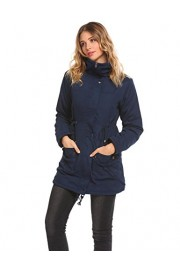 ELESOL Women Winter Pockets Warm Faux Wool Lined Parkas Anroaks Military Coat - My look - $25.99