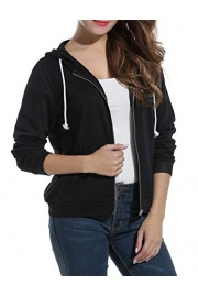 ELESOL Women's Long Sleeve Casual Zip-Up Hoodie Jacket Lightweight Sweatshirt - My look - $13.99