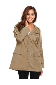 ELESOL Women's Waterproof Rain Jacket Hooded Active Long Windbreaker - My look - $15.99
