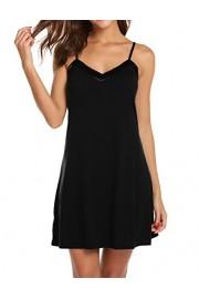 Ekouaer Chemise Womens Sleepwear Soft V-Neck Nightgown Full Slip Lingerie Dress S-XXL - Myファッションスナップ - $14.49  ~ ¥1,631