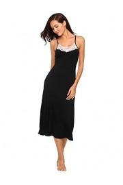 Ekouaer Long Nightgowns Womens Sleeveless Sleepwear Cami Lace Slip Dress S-XXL - Myファッションスナップ - $3.99  ~ ¥449