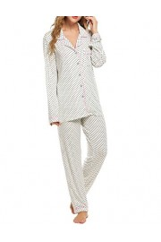 Ekouaer Pajamas Women's Long Sleeve Sleepwear Soft Pj Set XS-XXL - Myファッションスナップ - $28.99  ~ ¥3,263