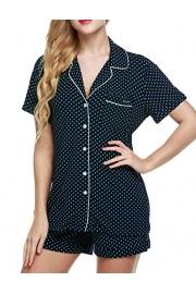 Ekouaer Pajamas Women's Short Sleeve Sleepwear Soft Pj Set XS-XXL - Myファッションスナップ - $24.99  ~ ¥2,813