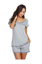 Ekouaer Women Pjs Sets Short Sleeve T Shirt and Shorts Pajamas Sleepwear Set Loungewear S-XXL - Myファッションスナップ - $10.99  ~ ¥1,237