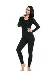 Ekouaer Women's Long Thermal Underwear Fleece Lined Winter Base Layering Set - Myファッションスナップ - $18.99  ~ ¥2,137