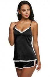 Ekouaer Womens Sleepwear Satin Pajama Cami Set Sexy Nightwear XS-XXL - Myファッションスナップ - $9.99  ~ ¥1,124