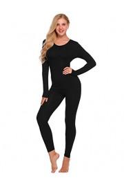 Ekouaer Womens Thermal Underwear Set Henley Base Layer Stretch Top & Bottom - My look - $19.99