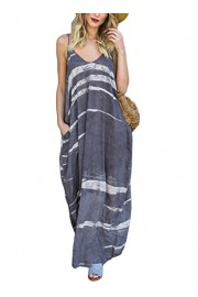 Elapsy Womens Summer Casual Print Sleeveless Boho Long Maxi Dress with Pocket - My look - $89.99