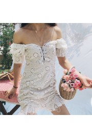 Embroidered openwork small daisies strap - Моя внешность - $27.99  ~ 24.04€
