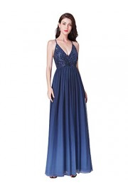 Ever-Pretty Deep V-Neck A-Line Long Evening Prom Dress with Sequin Bodice 07468 - My look - $89.99
