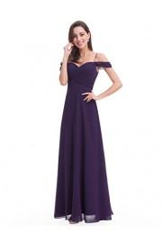 Ever-Pretty Shoulder Sweetheart Chiffon Evening Dress 07079 - My look - $79.99
