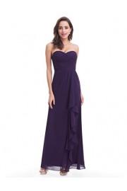 Ever-Pretty Strapless Long Ruffle Evening Dress 07088 - My look - $82.99